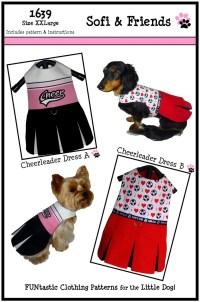 Cheerleader Dog Dress Pattern 1639 XXLarge Dog by ...