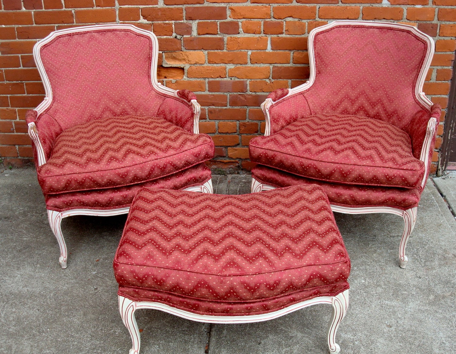 french bergere chair and ottoman best chairs glider recliner sold 1960 39s 70 reupholstered vintage chic bohemian