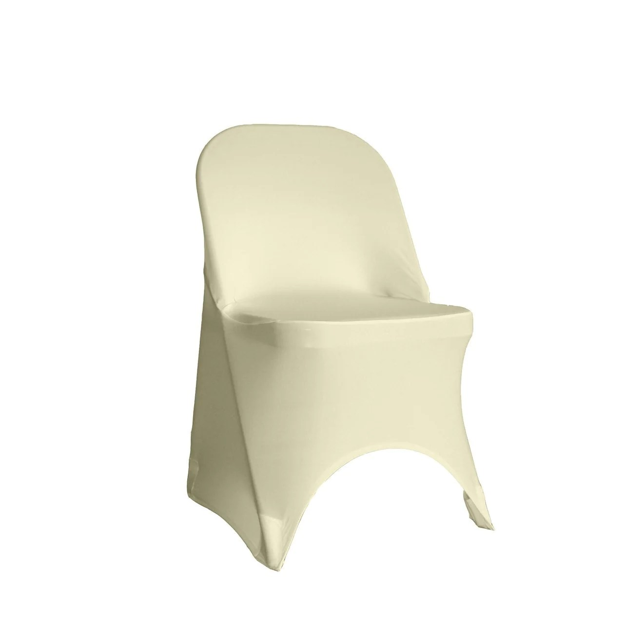 stretch chair covers kendrick sleeper and a half spandex folding cover ivory