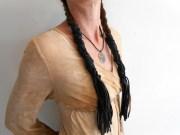 black leather braid wraps