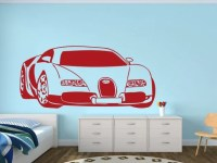 Wall decal BUGATTI CAR wall stickers for teens wall decal