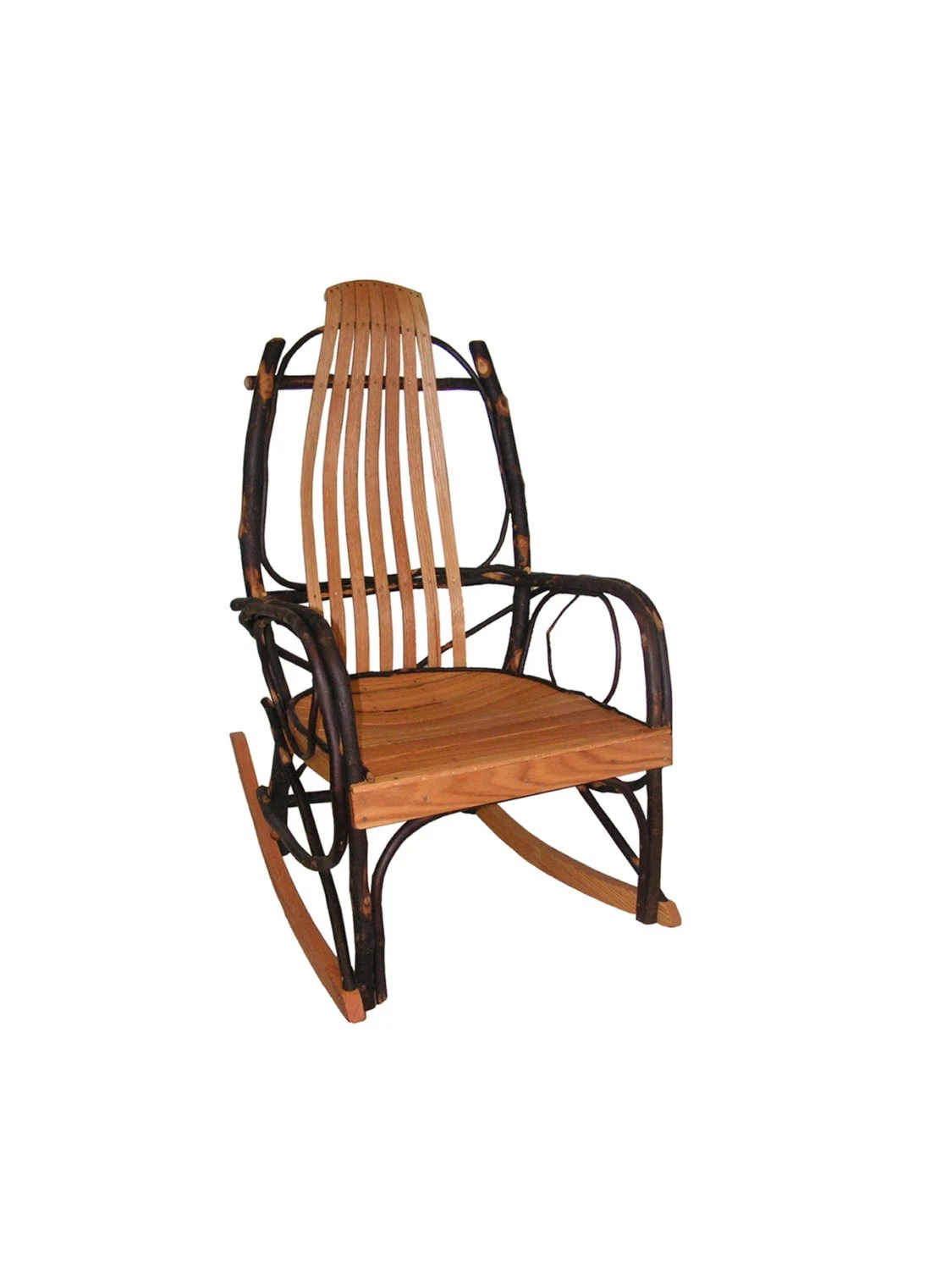 bent wood rocking chair antique style dining table and chairs hickory oak amish bentwood