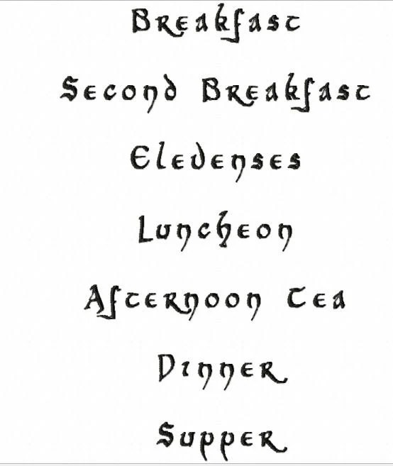 Items similar to DIGITAL FILE Hobbit Menu Second Breakfast