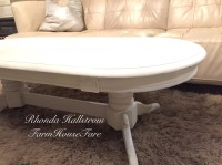 Large White Shabby Chic Coffee Table Chalk Paint Furniture