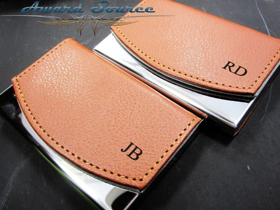 Personalized Business Card Holder Leather Business Card
