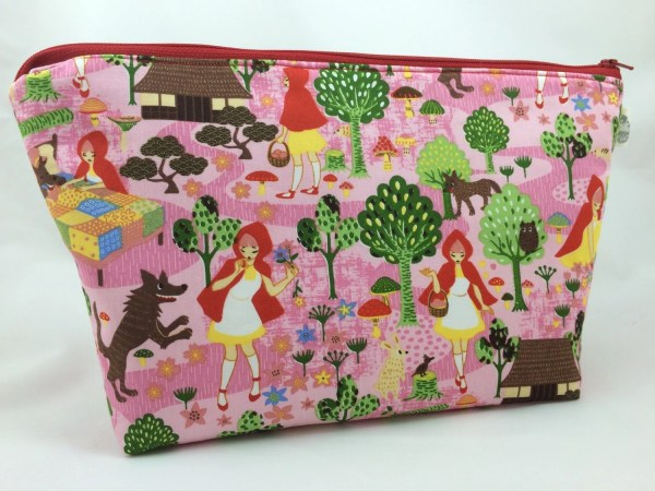 Red Riding Hood Extra Large Cosmetic Bag Toiletry