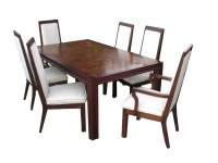 Mid Century Modern Wood Dining Table w/ 6 Chairs by ...