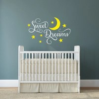 Sweet Dreams nursery wall decal moon and stars decor vinyl