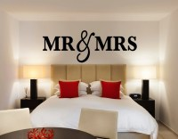 Mr & Mrs Wall Sign for Bedroom Decor Mr and Mrs Sign for