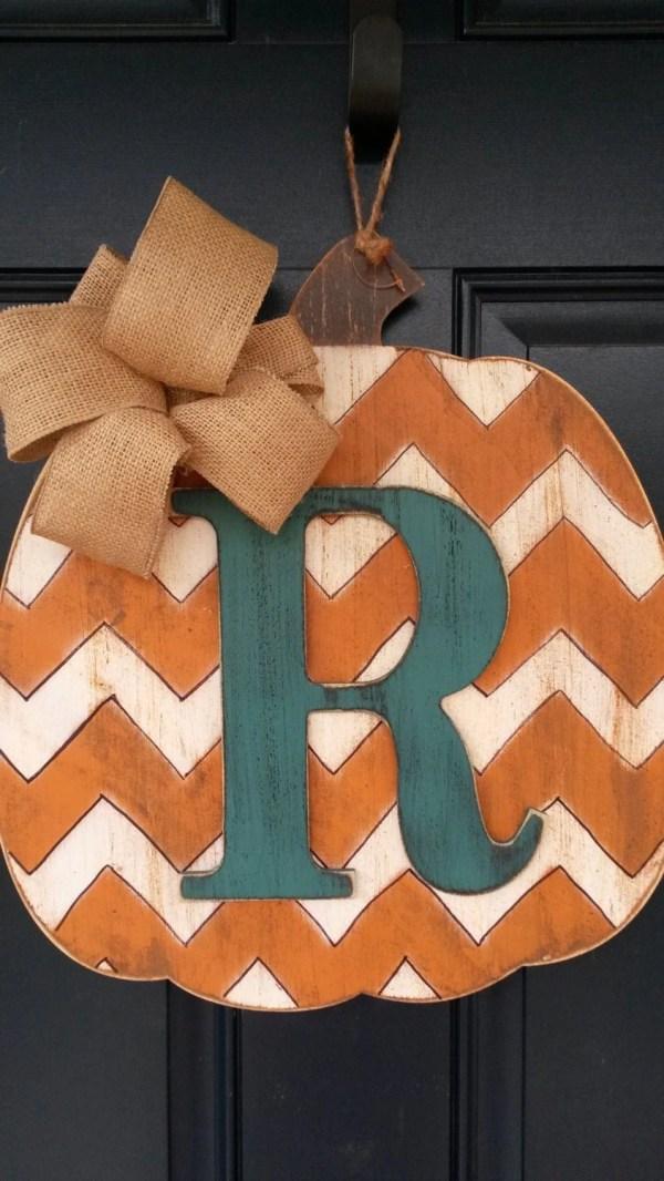 Fall Wooden Pumpkin Door Decorations
