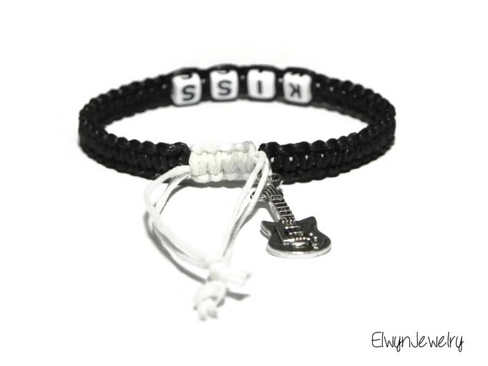 Items similar to KISS Band Bracelet, KISS Fan Bracelet