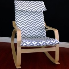 Ikea Poang Chair Covers Bed Bath And Beyond PoÄng Cushion Slipcover Grey Chevron By Rockincushions