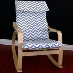 Ikea Chair Cushions Deep Seat Patio PoÄng Cushion Slipcover Grey Chevron By Rockincushions