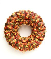 Fall fabric wreath fall decor door / wall decoration autumn