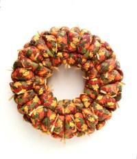 Fall fabric wreath fall decor door / wall decoration autumn
