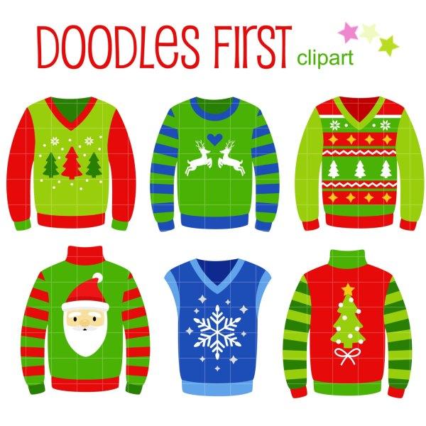 ugly christmas sweaters digital