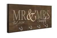 Brown Personalized Wall Key Holder Display Rack Wall Key