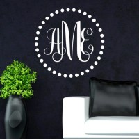 Monogram Wall Decal Personalized Initial Family Wall Decals