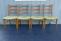 4 Lane Rhythm Dining Chairs Mid Century Modern Walnut ...