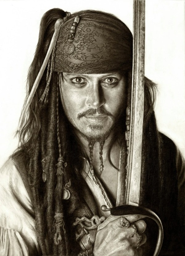 Johnny Depp Captain Jack Sparrow A3 Size Poster Print