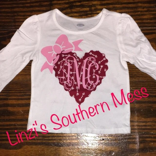 Items Similar To Iron On Fabric Shirt Valentines Day