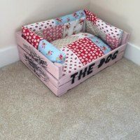 Items similar to Shabby Chic Dog Bed on Etsy