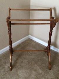Free US Shipping: Vintage Wooden Quilt Rack Wooden Blanket