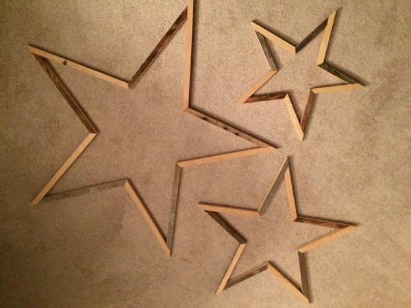 Uupcyled Wood Star Wall Art Home Decor Repurposedbyrob