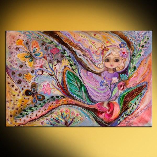 Original Fantasy Fairy Art Painting Of Little Lenakotliarker