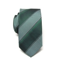 Mens Ties Hunter Green Stripes Skinny Necktie