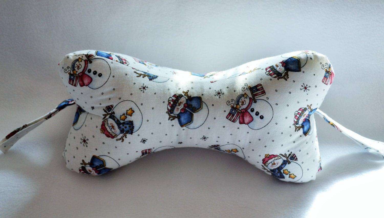 Dog Bone Neck Pillow Snowmen