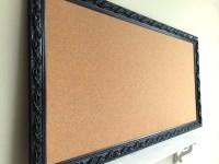 JEWELRY ORGANIZER Wall Cork Board Black Corkboard Pinboard
