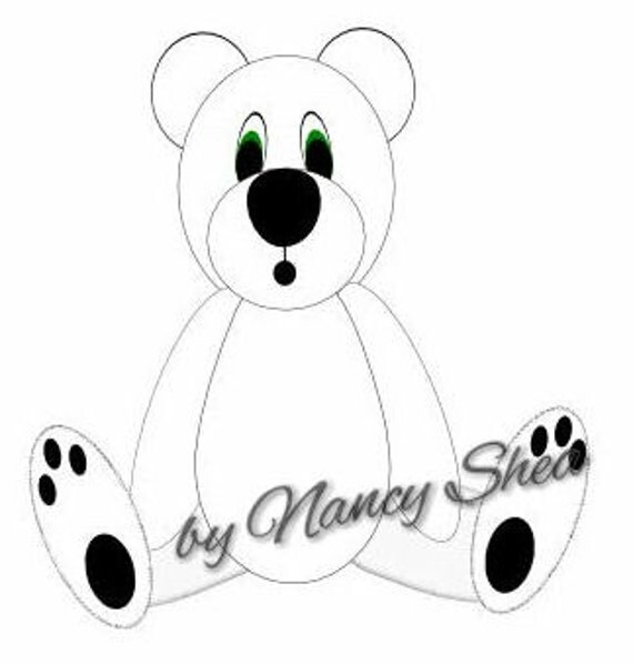Cute Polar Bear SVG Cutting File for Scrapbooking Card
