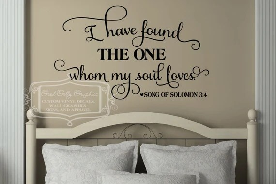 Download I have found the one whom my soul loves vinyl decal song of