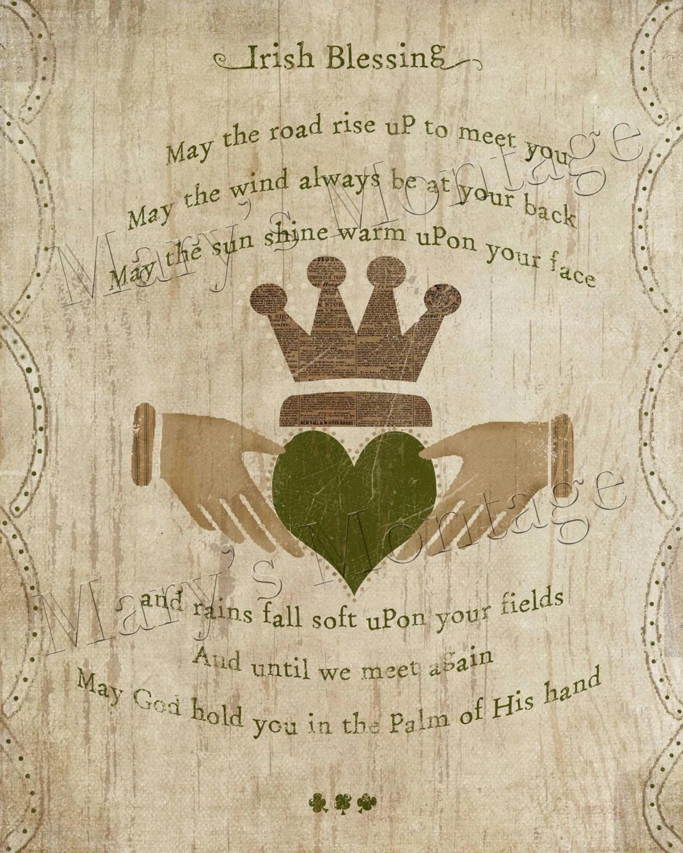Irish Blessing printable art 8x10 download St Patricks