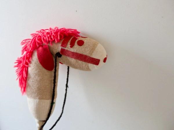 Vintage Horse on a Stick Sock Monkey Horse Vintage Stuffed