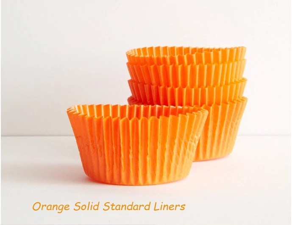 Cupcake Liners Orange Solid Baking Cups 50 Bright Fun