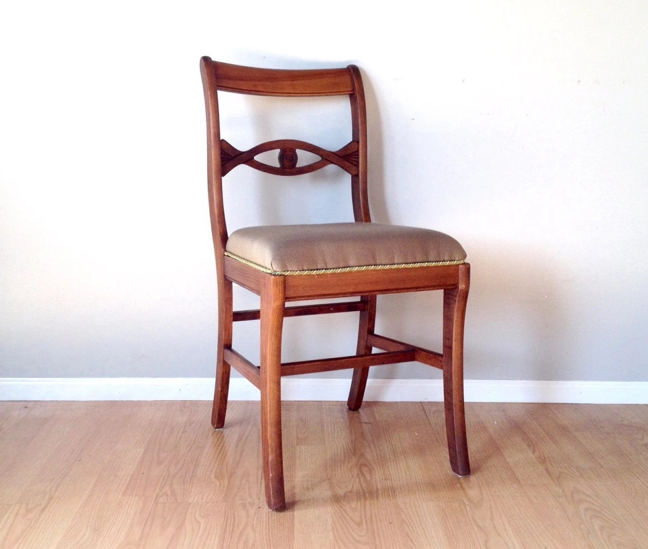 Retro Dining Chair Vintage Tell City Mahogany Chair Retro Furniture Dining Room