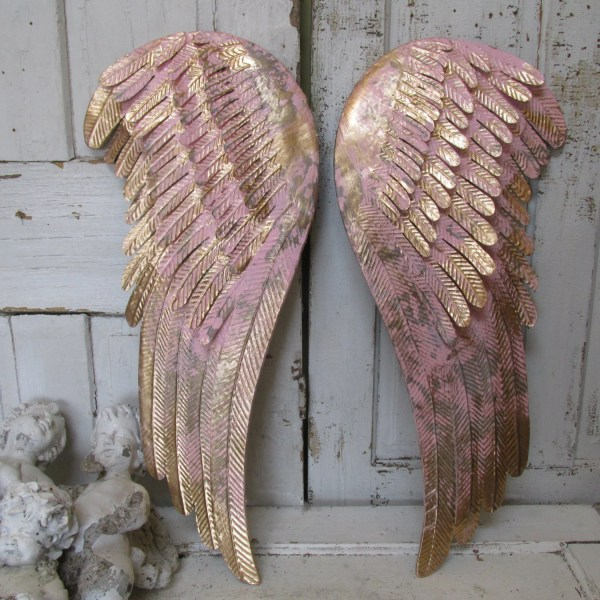 Gold Angel Wings Wall Decor