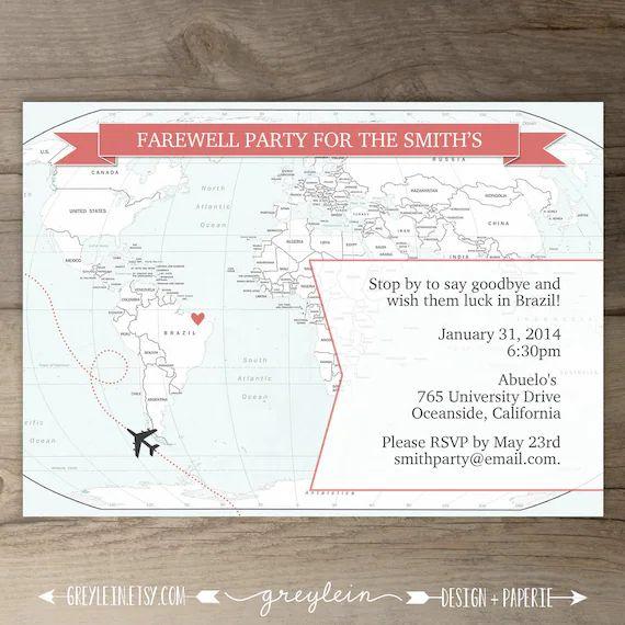 goodbye party invites
