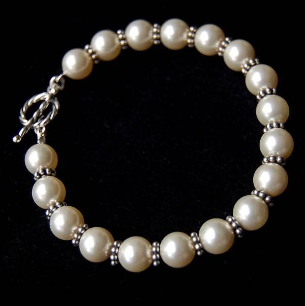 Pearl Bracelet Antique Sterling Silver