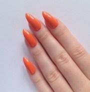 orange stiletto nails nail design