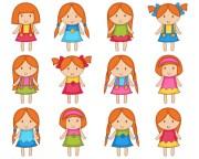 cute girls clip art kids digital