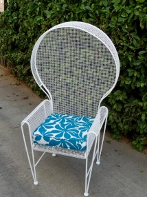 Rare Russell Woodard Patio Chair Outdoor Furniture Cast
