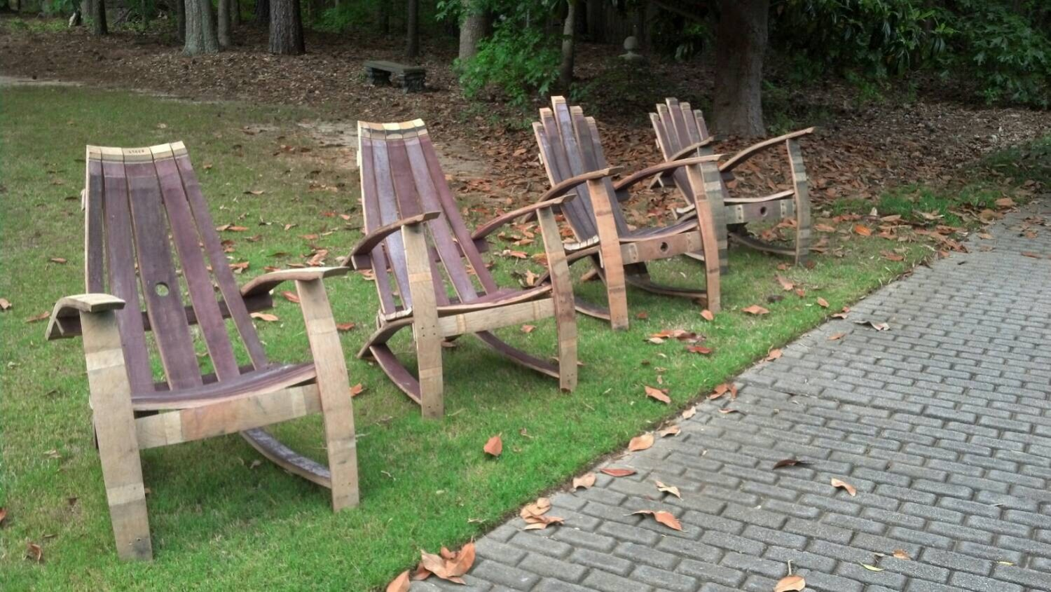 adirondack wine barrel chairs high chair attaches to table red unfinished