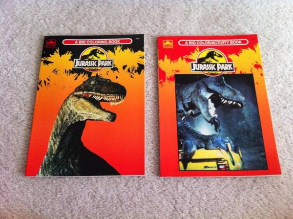 Lot Of 2 Vintage Jurassic Park Coloring Books Unused
