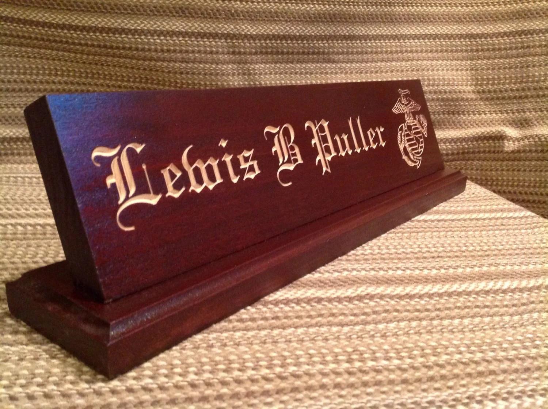 Custom Military Desk Nameplate 15 inch