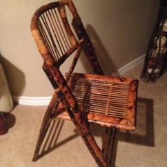 Folding Wicker Chairs Wheelchair Lifts Sale Vintage Bamboo Wood Chair