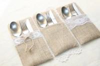 Burlap Silverware Holders Table Decor by FriendlyEvents on ...