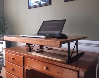 Free Shipping Convertible Standing Desk by ARKaufmanWoodworks